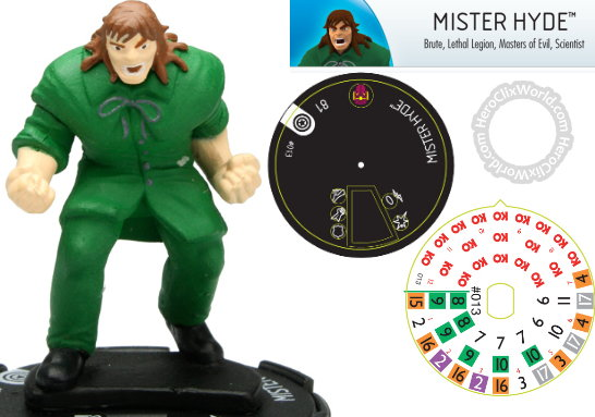Mister Hyde HeroClix Dial