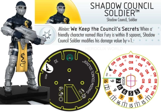 Shadow Council Soldier HeroClix Dial