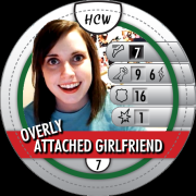 HeroClix Bystander Tokens Overly Attached Girlfriend