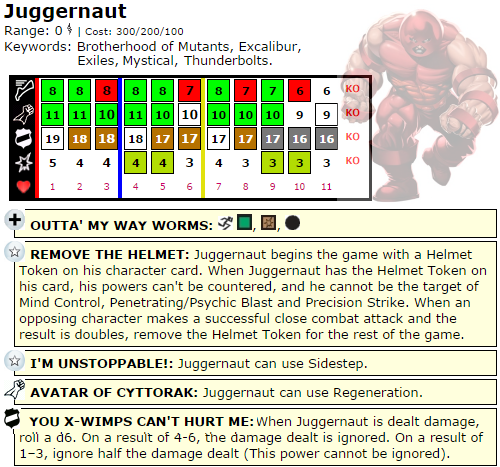 The Quintessential Juggernaut HeroClix Dial