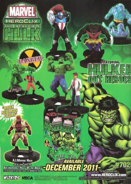 HeroClix Incredible Hulk Poster